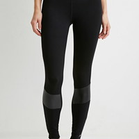 Striped-Waist Athletic Leggings