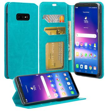 Samsung Galaxy S10 Lite Case, Galaxy S10 Lite Wallet Case, Pu Leather Wallet Case [Kickstand] with ID & Credit Card Slots for Galaxy S10 Lite - Teal