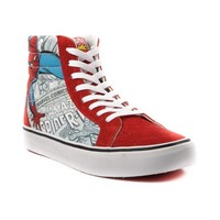 Vans Sk8 Hi Spider-Man Skate Shoe, Red White  Journeys Shoes