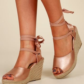 Get Your Shine On Wedge Bronze