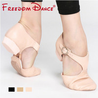 Genuine Leather Stretch Jazz Dance Shoes For Women Ballet Jazzy Dancing Shoe Teachers's Dance Sandals Excercise Shoe D005353