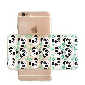 Cute Panda Pattern Transparent Clear Rubber Jelly Plastic Phone Case for Iphone_ SUPERTRAMPshop (VAS1441, iphone 7/8)