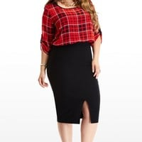 Plus Size High Waist Skirt | Fashion To Figure