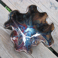 Handmade Galaxy Pottery - Ceramic Wave Bowl - Ceramics and Pottery - Outdoor Decor - Ceramic Dish - Psychedelic - Ashtray