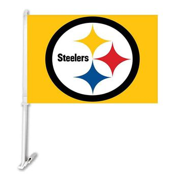 Pittsburgh Steelers car Flag 30x45cm Polyester double sided Banner