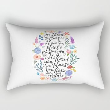 Hope and a Future - Jeremiah 29:11 Rectangular Pillow by Noonday Design