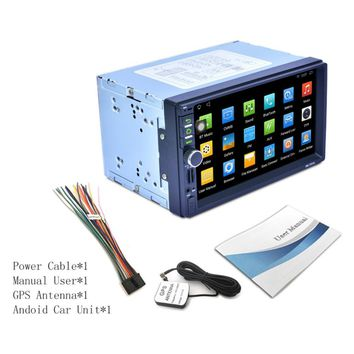 RK-7721A Professional 7 Inch HD 1024*600 Capacitive Screen 7 Colorful Light Function Car DVD MP3 Player Android5.1.1