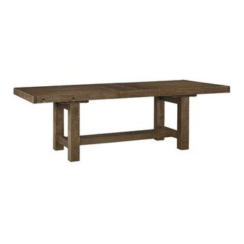 Solid Wood Pine Expandable Farmhouse Dining Table