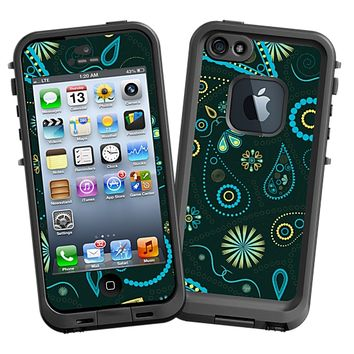 Turquoise Paisley Skin  for the iPhone 5 Lifeproof Case by skinzy.com