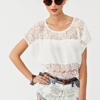 Sweet Lace Tee in  Clothes Tops at Nasty Gal