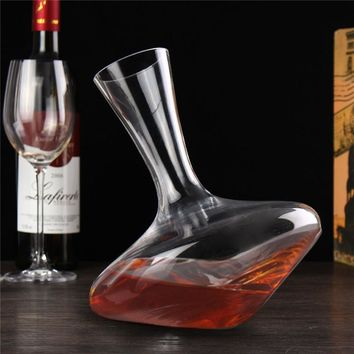 Luxurious Crystal Glass Horn Wine Decanter Red Wine Pourer Wine Container Barware Ornament Craft Accessories Home Embellishment