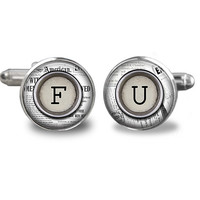 Monogram  Cufflinks  All Letters Available,Father Gift Cufflinks, Groom Wedding Cufflinks, Groomsmen Gifts