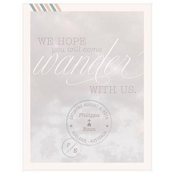 Wanderlust Save The Date Card (Pack of 1)