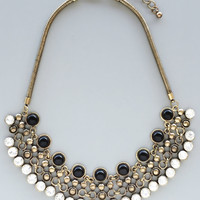 Crystal Noir Statement Necklace