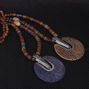 Vintage engraved groove ethnic necklace