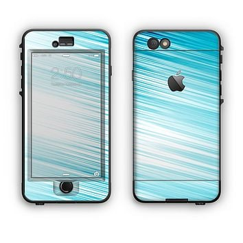 The Bright Diagonal Blue Streaks Apple iPhone 6 LifeProof Nuud Case Skin Set