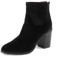 Vegan Shoes & Bags: Ringmaster Velvet Boot by BC Footwear in Black