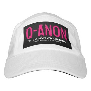 QANON BLACK & PINK & WHITE WOMEN'S HAT