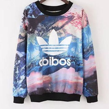 VONE05 Adidas: Tie Dye Galaxy Originals Long Sleeve T-Shirt
