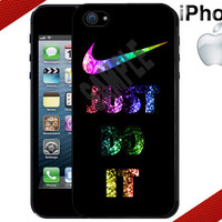 Nike Just Do It Sparkle Rubber iPhone 5 Case  by CrazianDesigns
