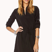 Essential Drawstring Shift Dress
