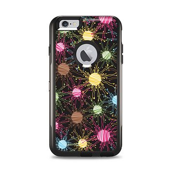 The Bright Loopy Circle Extract Apple iPhone 6 Plus Otterbox Commuter Case Skin Set