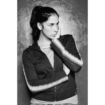 Sarah Silverman poster Metal Sign Wall Art 8in x 12in Black and White