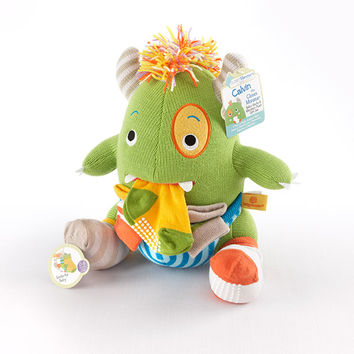 Baby Aspen Calvin the Closet Monster Knit Baby Socks and Plush Monster Gift Set