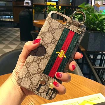Bees GUCCI Leather Fashion Cover Case for iPhone