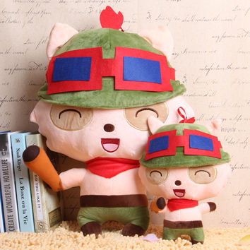 LOL League Teemo kids toys pokemon stuffed toys dolls plush toys anime figure pillow dolls for girls 23cm