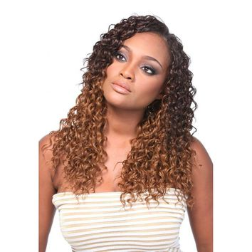 "Multi Blend Weave Hair- 5pc in 1 PK (12"",14"", 16"", 18"" Wefts + Closure), KIM"