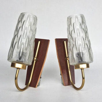 Vintage Wall Lamp Pair / Sconces  / Mad Man Era Lightning