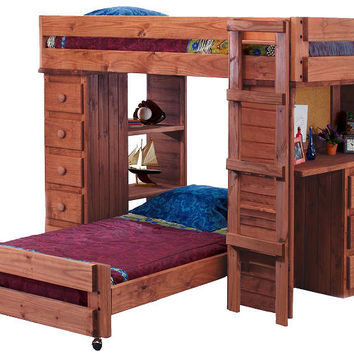 Henderson Extra Long Twin over Twin Student Loft Bed
