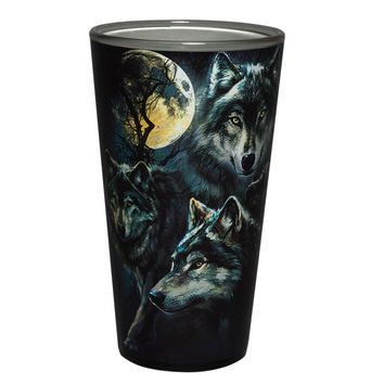 Moon Wolves Collage Pint Glass