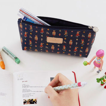 Ardium Pattern soft stand up zipper pencil case