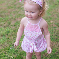 Pink Country Lace Bubble Romper - Toddler & Girl Sizes