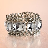Boston Proper Chain crystal bracelet