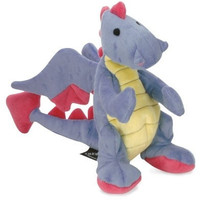 "DOG TOYS - PLUSH - GODOG BABY DRAGON DOG TOY  11"", PERIWINKLE"