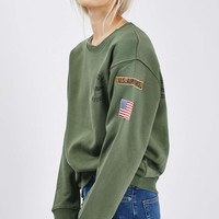 Airforce Sweatshirt by Tee & Cake - Topshop