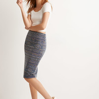 Tile Print Pencil Skirt