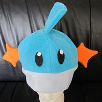 Mudkip Fleece Hat Pokemon Anime Manga Cosplay Rave Skiing Snowboarding Video Game