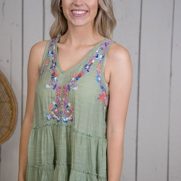 Pascal Sleeveless Top, Sage