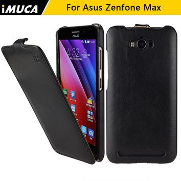For asus zenfone max zc550kl Cases Cover for Asus Zenfone Max Case PU Leather Flip skin for Asus Zenfone Max ZC550KL iMUCA bags