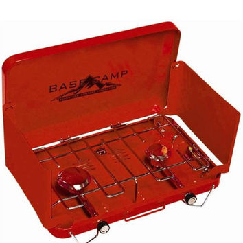 Base Camp by Mr. Heater Two Burner Stove Red