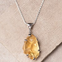 Citrine Pendant Necklace - One Of A Kind