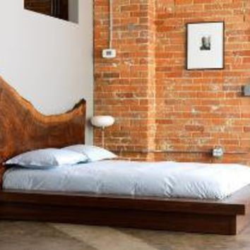 Claro Walnut Headboard & Bed Frame by WalnutSt on Etsy