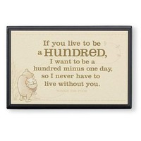 "Winnie the Pooh and Piglet ""Live to Be 100"" Small Plaque"