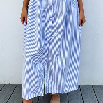 Backyard Barbecue Skirt: Blue/White