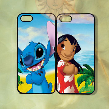 Lilo and Stitch Best Friend and Couple Cases -iPhone 5, 4s, 4 case, ipod 5, Samsung GS3-Silicone Rubber or Hard Plastic Case, Phone cover