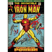 Iron Man Comic Cover Giant Wall Decal